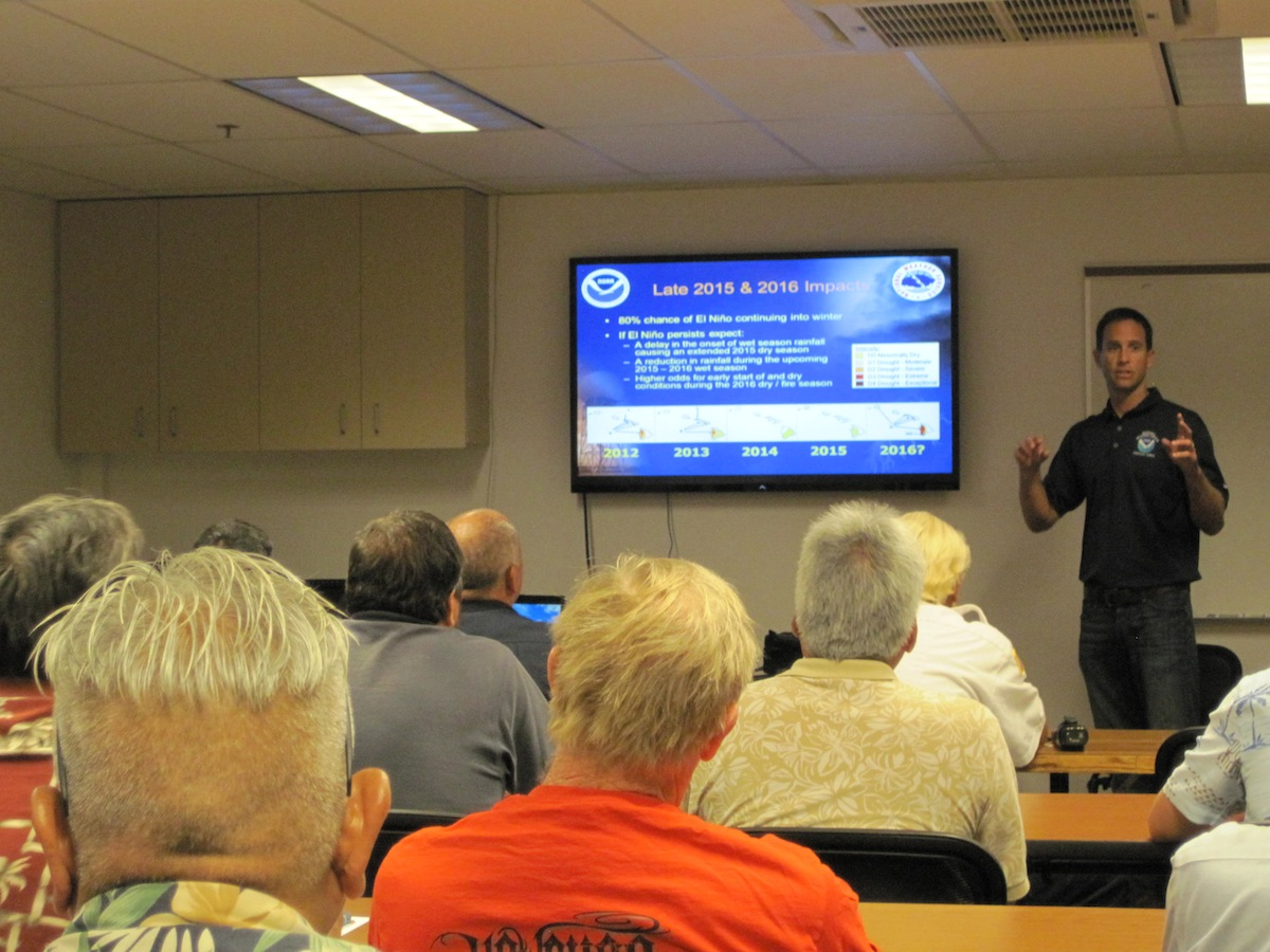 Derek Wroe of NOAA National Weather Service explains El Niño's potential to delay the next wet season.