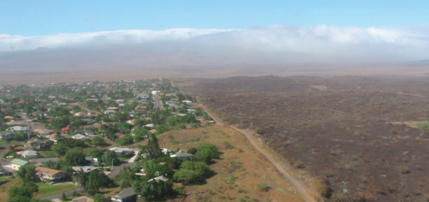 One of HWMO's first grant-funded projects, the Waikoloa Community Fuelbreak, was completed in the summer of 2005. Within two weeks, it was already tried and tested. The largest wildfire in the State of Hawaii'srecent recorded history (25,000 acres) burned from Waimea's Lalamilo Farmlots all the way to the very boundary of Waikoloa Village. Reluctantly, because of the fuelbreak, firefighters were able to access a previously inaccessible area to fight off the burning front, saving the Village from major damage.