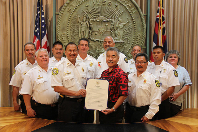 """""""Fire Prevention Week 2015. Photo credit: State of Hawaiʻi, Office of the Governor."""""""