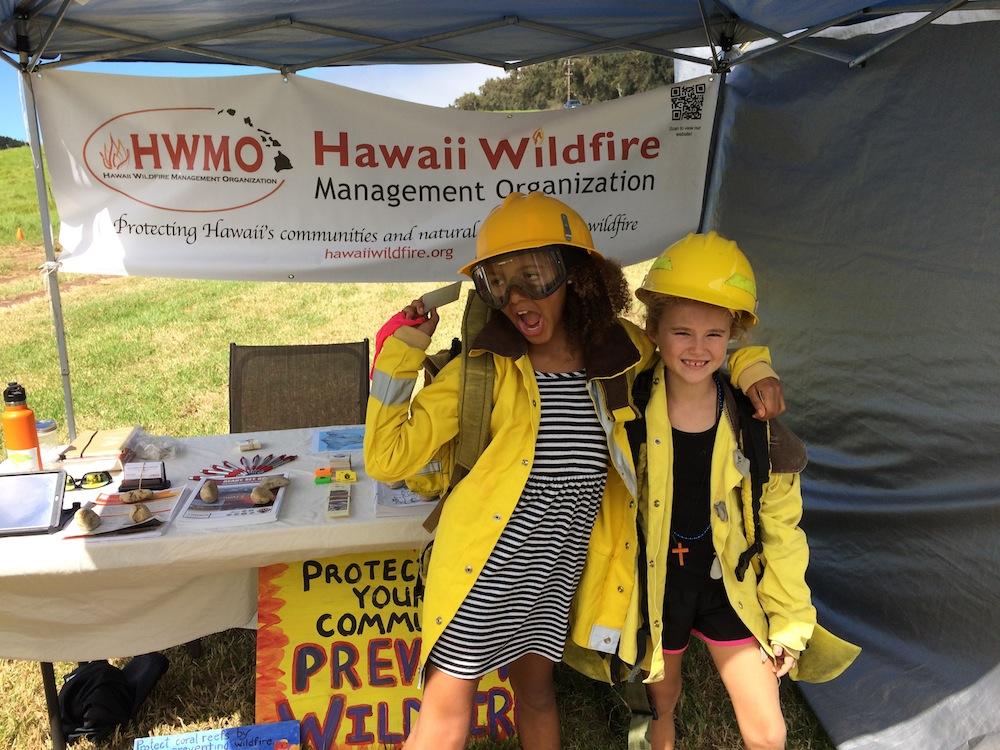 Wildland Firefighter Photo Shoot at Kohala Mountain Pumpkin Patch festival on October 10th.
