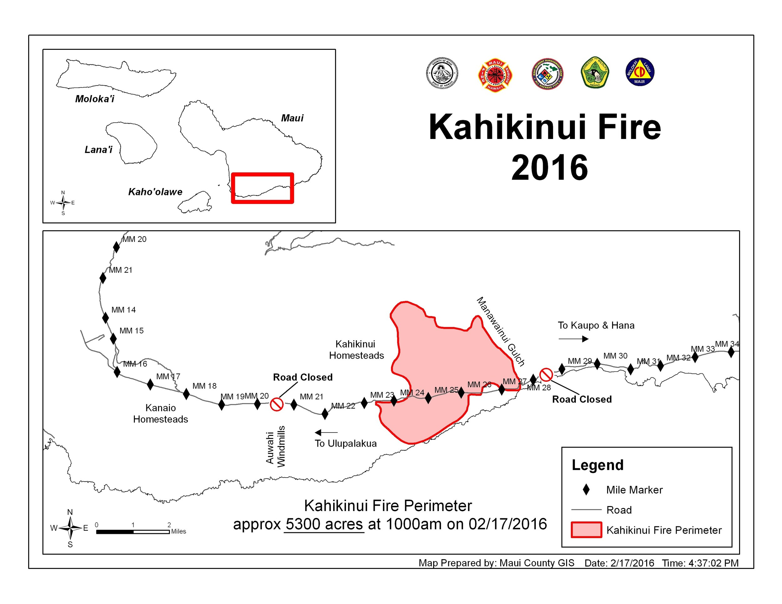 Map of Kahikinui Fire. Credit: Maui County GIS