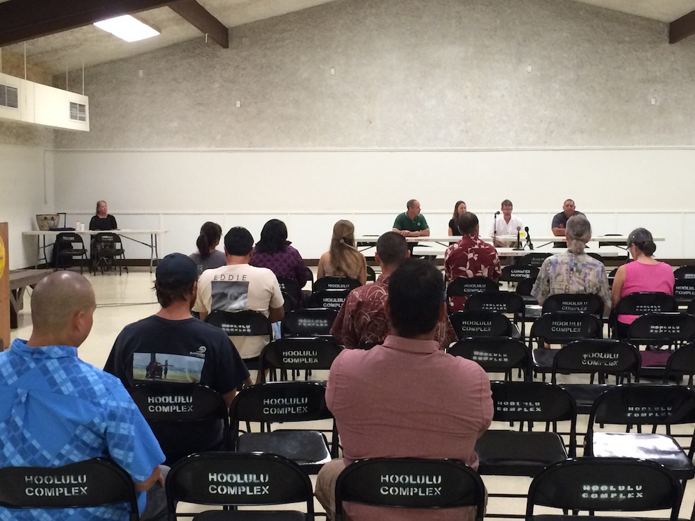 DOFAW representatives and community members gathered for the input portion of the meeting.