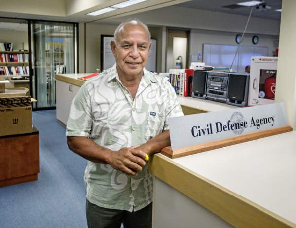 Ed Teixeira, new director of Hawaii County Civil Defense. Photo Credit: West Hawaii Today