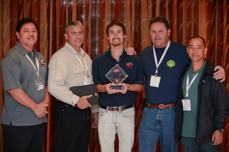 HWMO celebrated receiving a Ready, Set, Go! award in 2016 with HFD fire chiefs and captains. (Credit -- Ready, Set, Go!)
