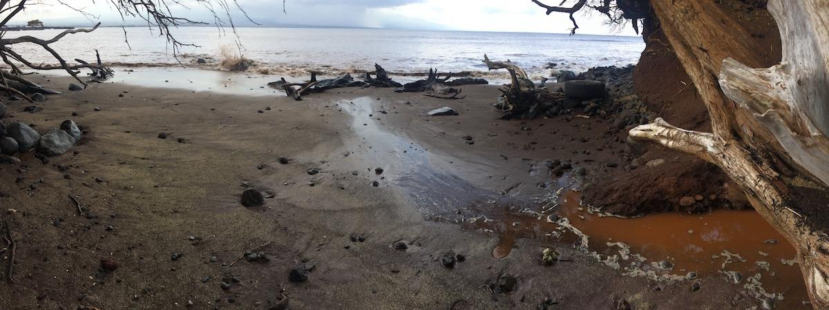 Post-fire erosion in Maui 2016.