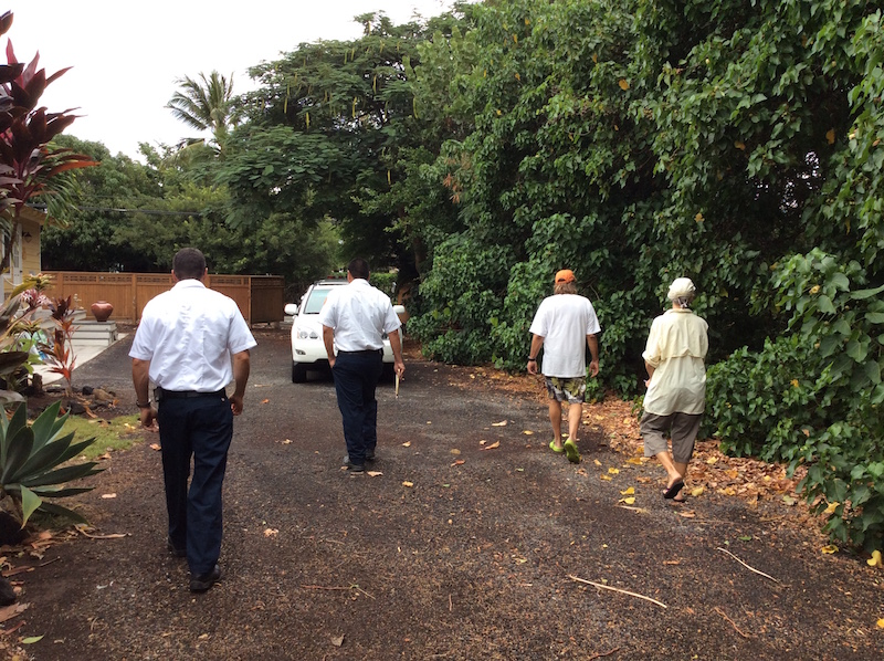 HWMO, HFD, and Puako Firewise Committee teamed up to conduct a hazard assessment on December 2.