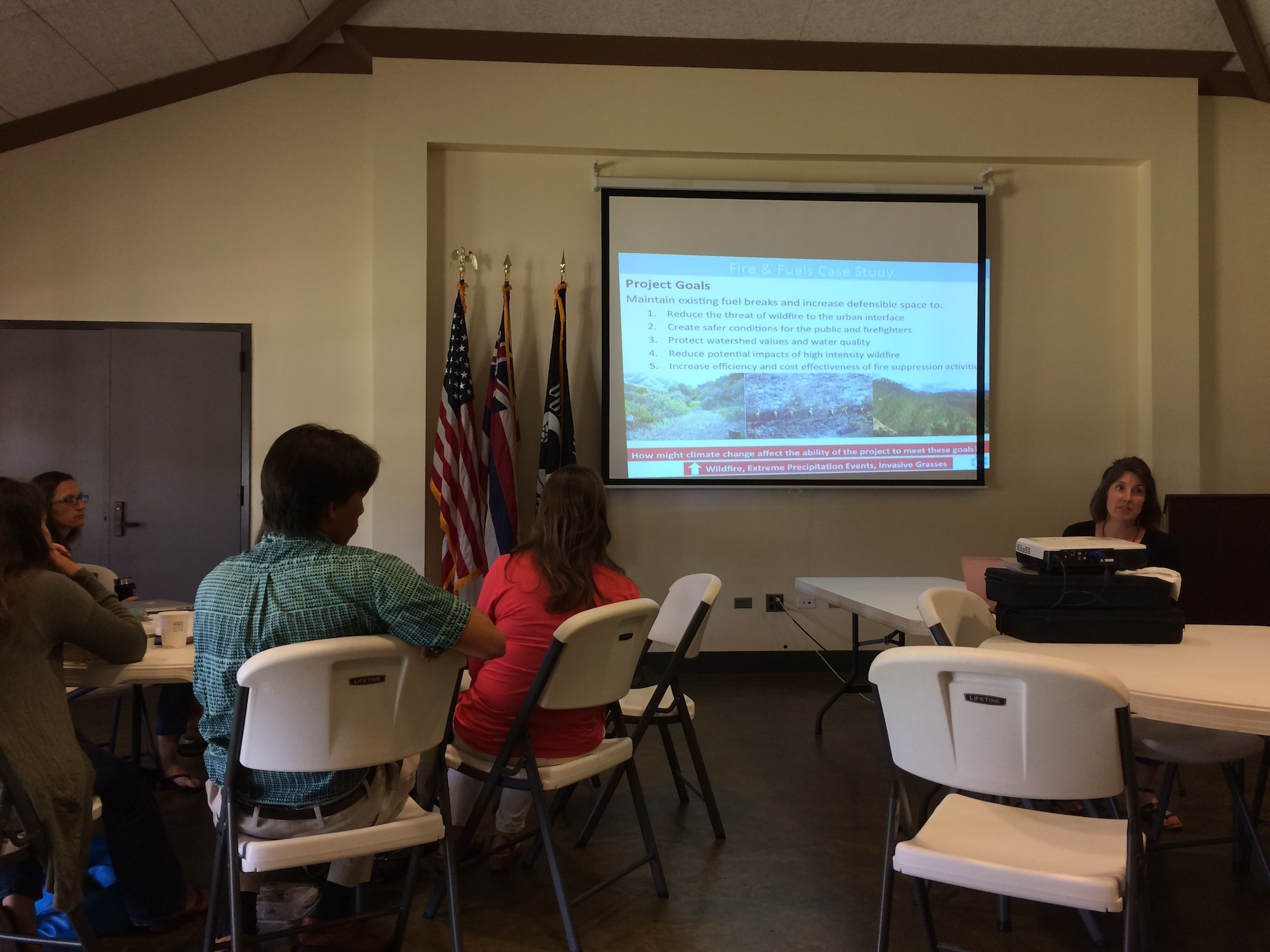 Wildfire was a major topic of discussion throughout the climate adaptation workshop.