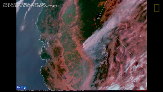 Screenshot - Geostationary Operational Environmental Satellite R Series via Storyful