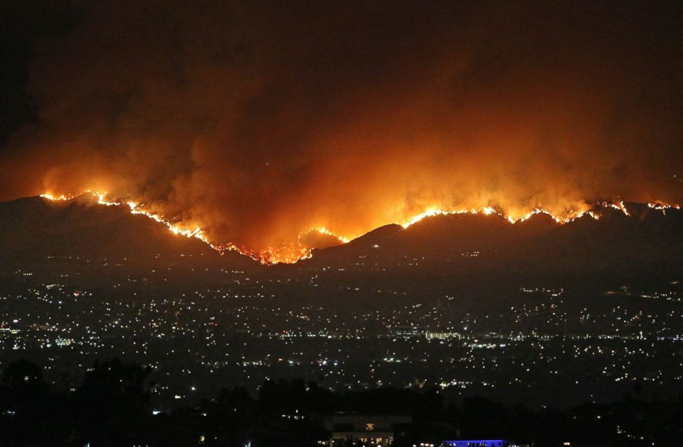 """A huge wildfire is seen in Los Angeles, Sept. 1, 2017."" Credit: Splash News"