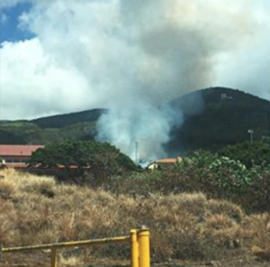 """Lahainaluna fire, Sept. 18, at about 1 p.m."" Credit: Madonna Taganap"