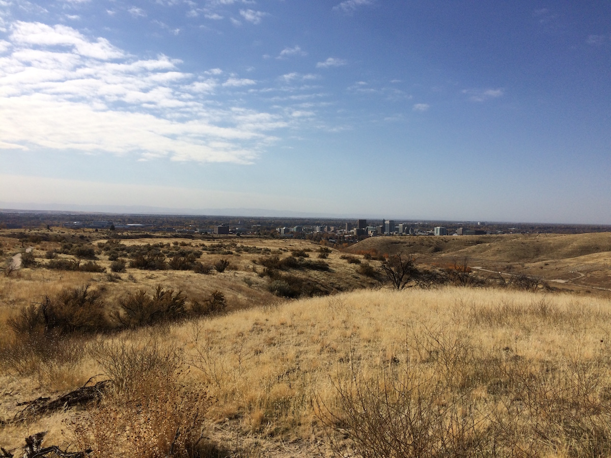 View of Boise from the foothills near the city.