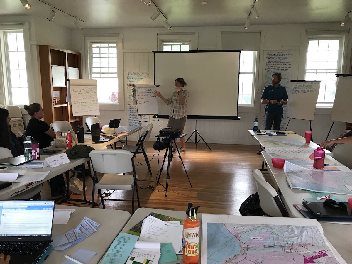 On the last day, teams shared their climate action ideas including coastal policy changes and reforestation strategies.