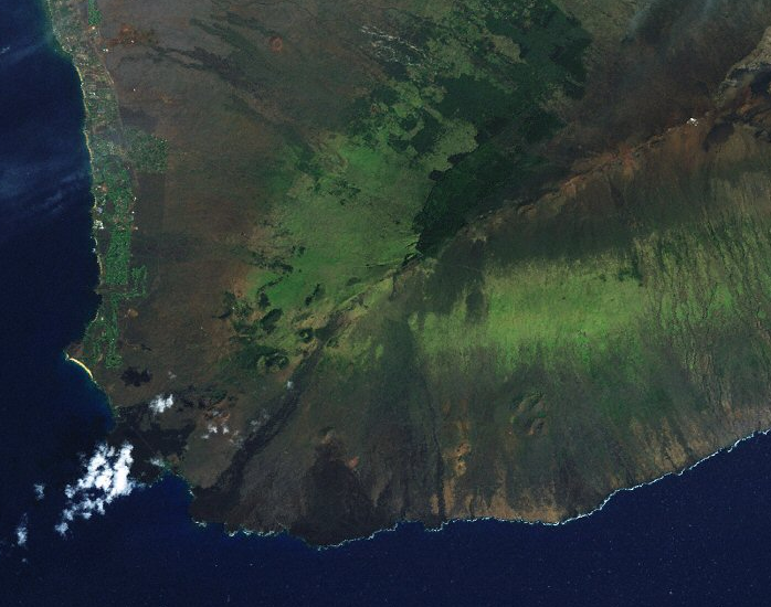 The fire occurred in the vicinity of the Auwahi Wind Farm located in leeward Haleakala.
