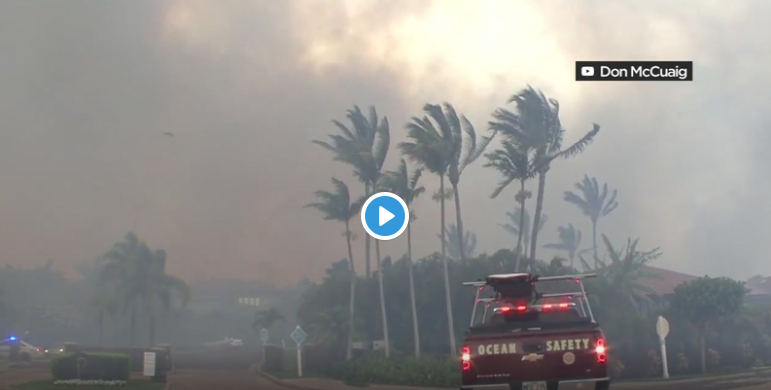 """Hurricane Lane, which was just downgraded to a Category 1 storm, is still very dangerous because of the extreme rainfall. But ironically, Maui could use the rain. (Video by Don McCuaig/YouTube)"""