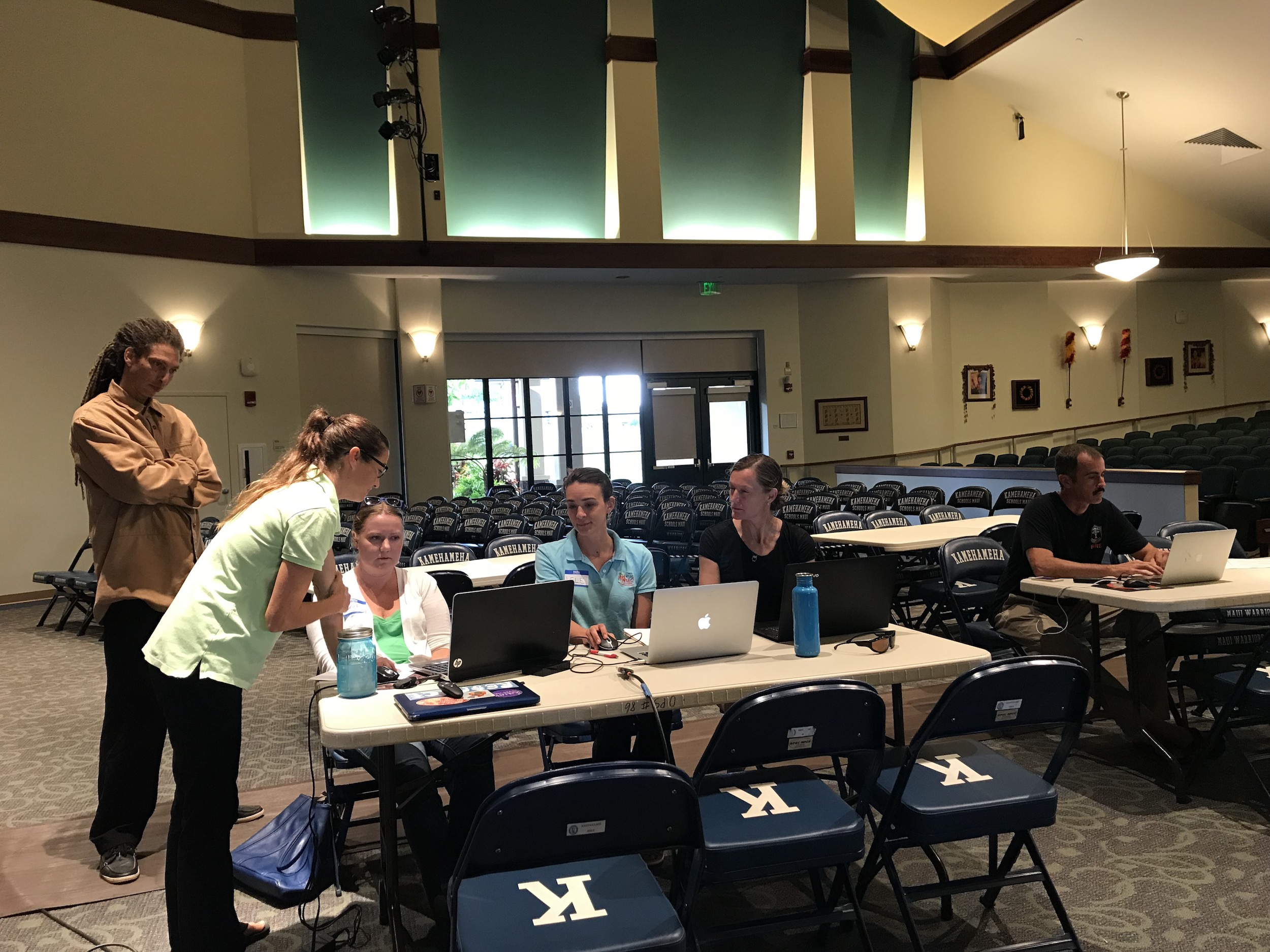 Mapping at Kamehameha Schools with partners on Maui.