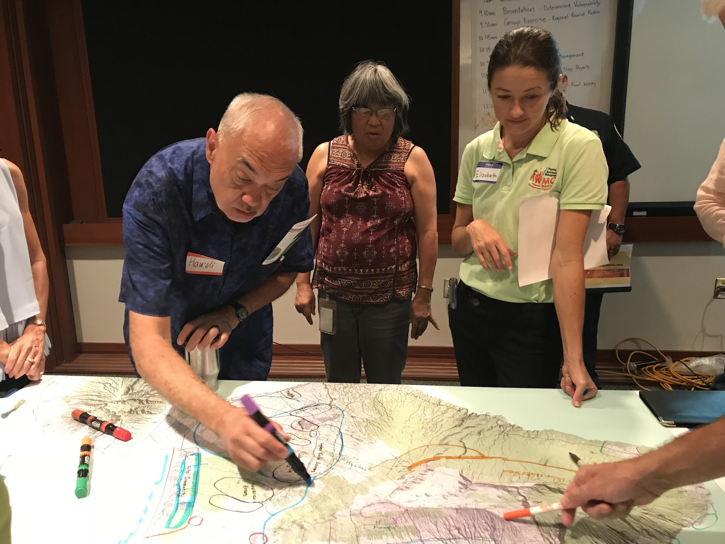 Maui Vegetative Fuels Management Collaborative Action Planning Meeting_2018_9_27_18_Outlining areas for protection.jpeg