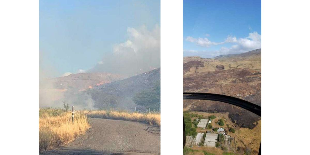 Images from the fire on Saturday. Credit: Maui Fire Department