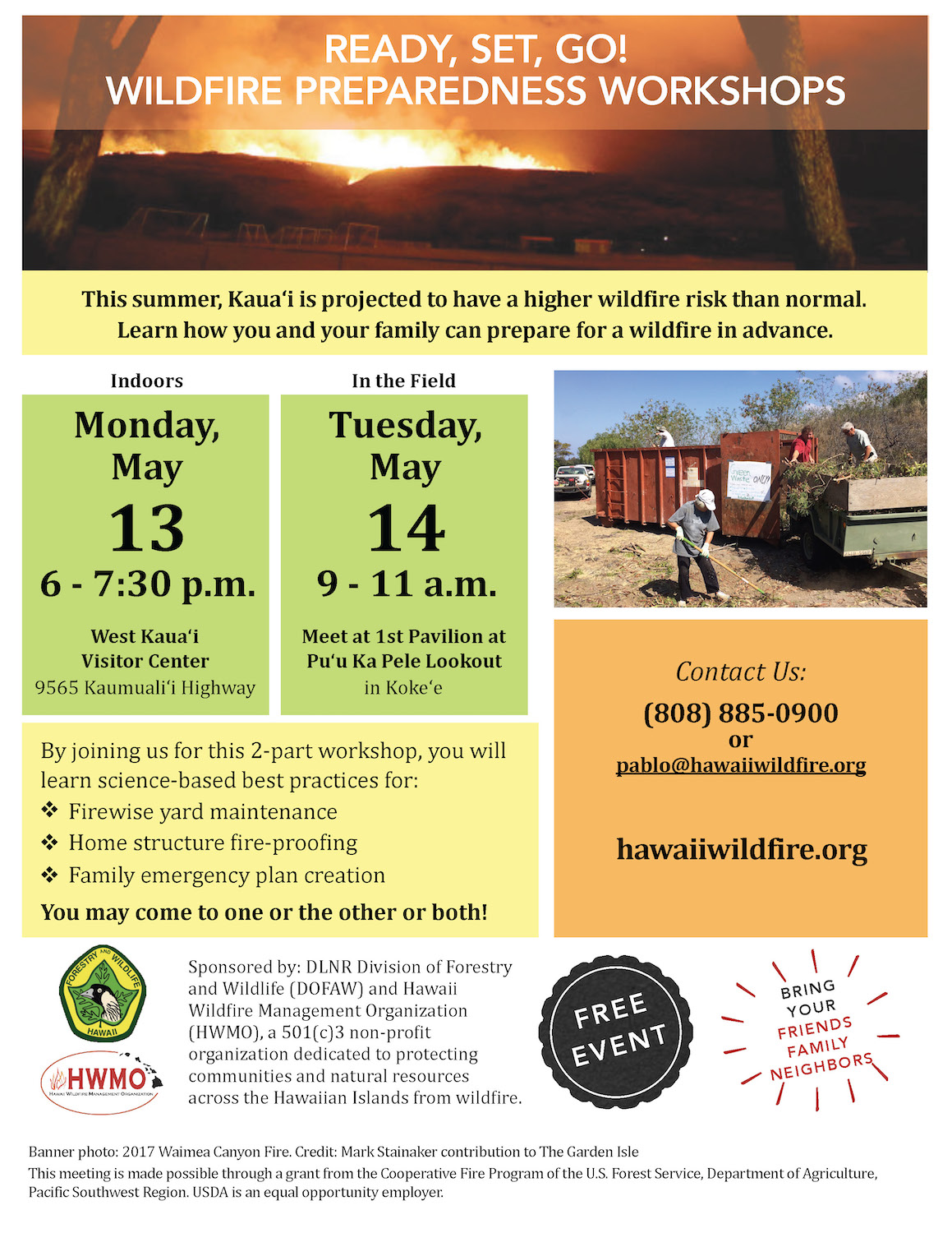 Kauai ReadySetGo! Wildfire Preparedness Workshop (Part 1