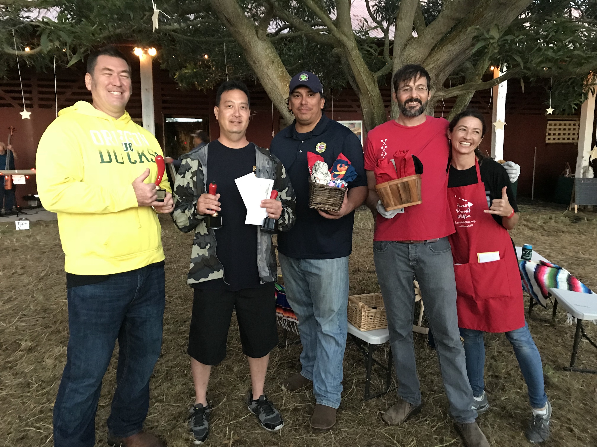 Team reps competed for coveted chili awards.