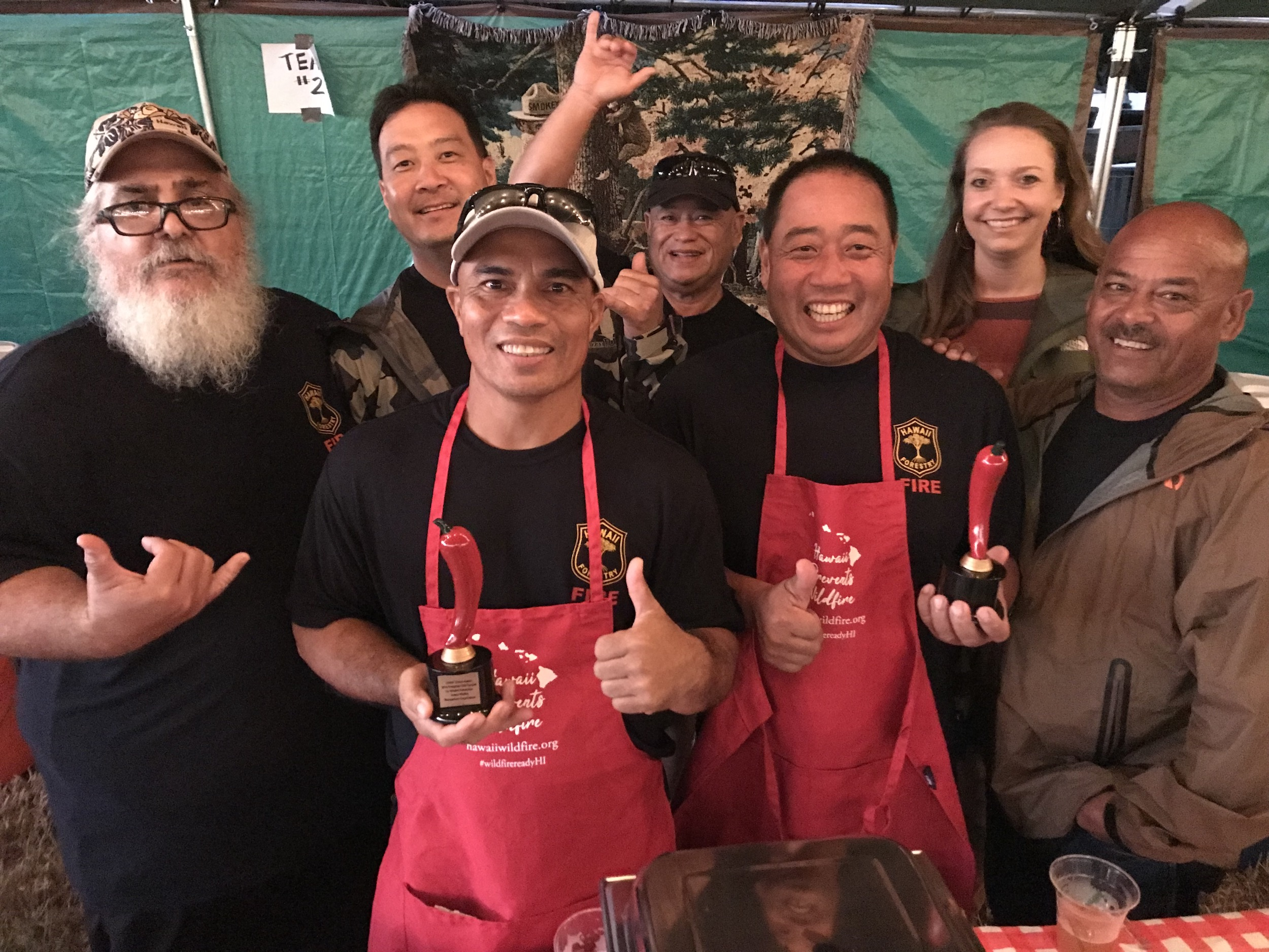 DOFAW won Chef's Choice AND Best Team Spirit in one night!