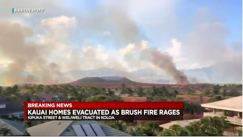 Kauai fire crews handle brush fire that forced evacuations