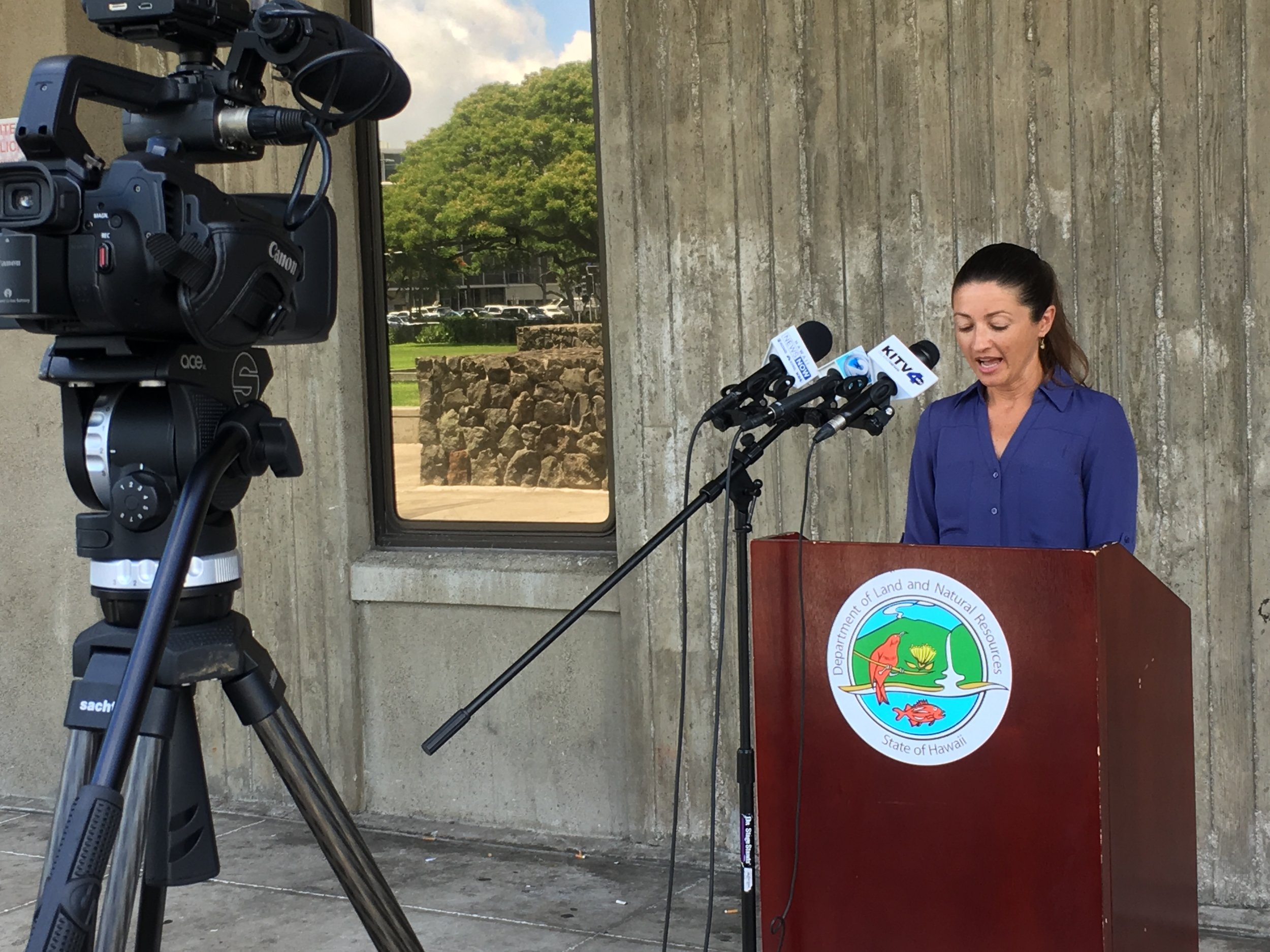 HWMO's Executive Director speaks in Honolulu at the 4th annual Wildfire and Drought LOOKOUT! campaign kickoff