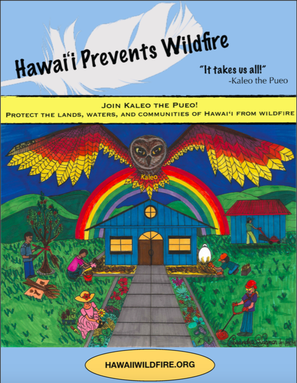 2019_4_9_Kaleo the Pueo Hawaii Prevents Wildfires Coloring Book_FINAL