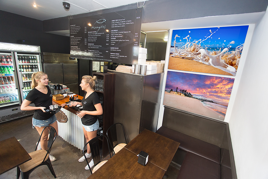 """""""I bought two 1.2 metre glass mounts from Jason for my restaurant in Manly and I couldn't be happier. The clarity and quality is really amazing. My customers love them too.""""                                                           Ryan - Fishmongers Manly.."""