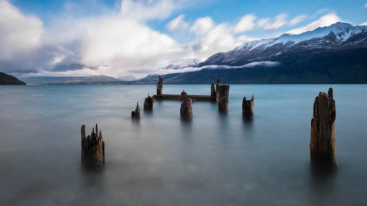 An old pier on Lake Wakatipu
