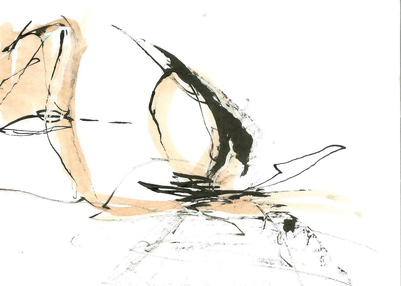 Egg Shape Taking Form, ink on paper, 6x4, 2010