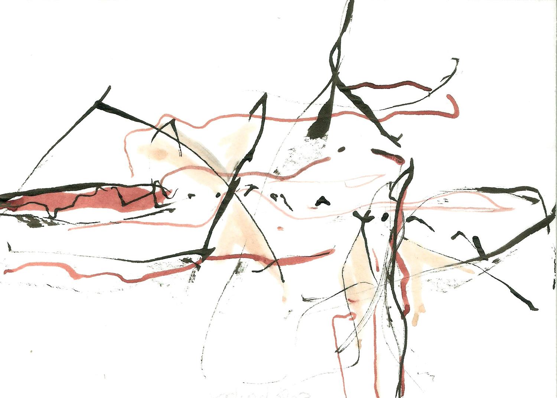 Safe Harbor, ink on paper, 6x4, 2010