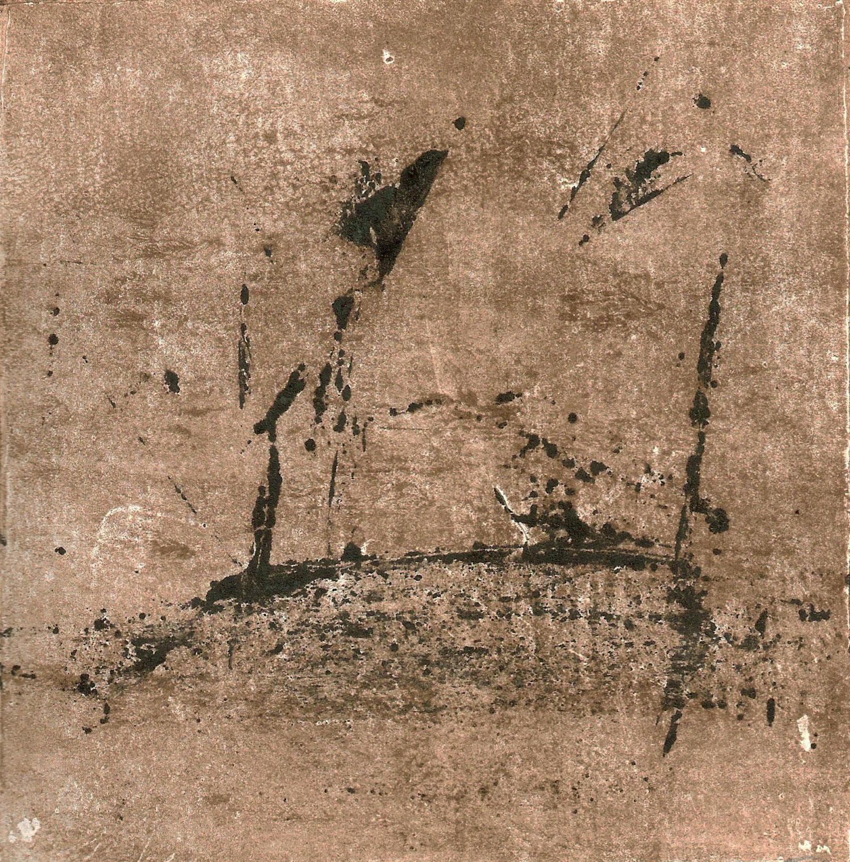 Atmosphere, monotype, 6x6, 2013