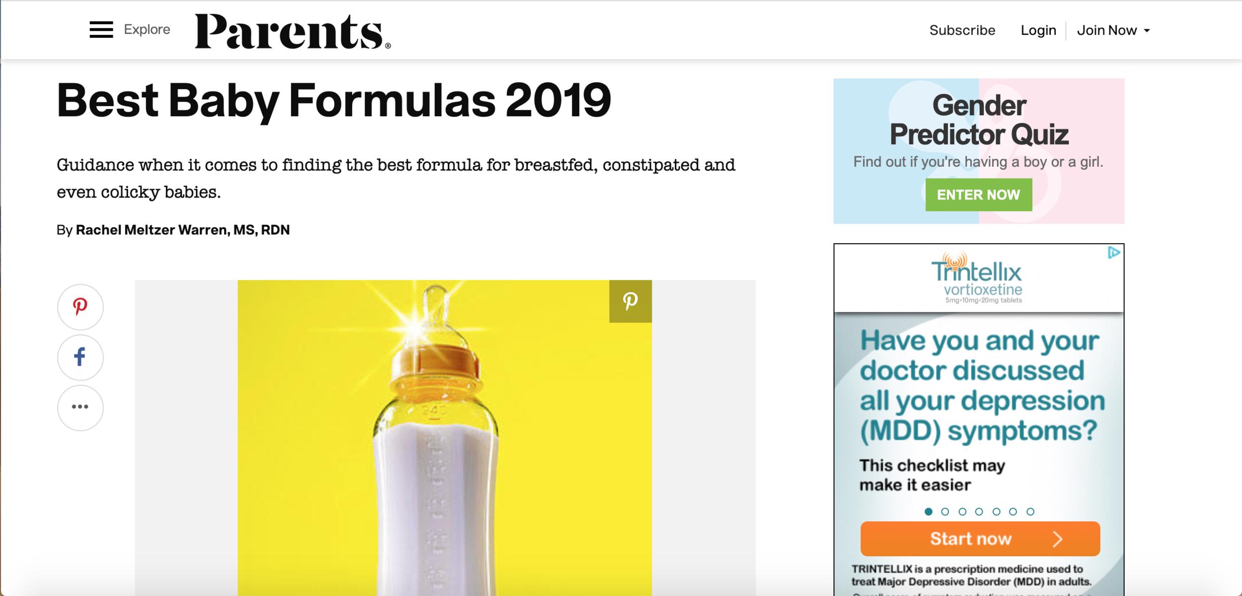 Best Baby Formulas 2019