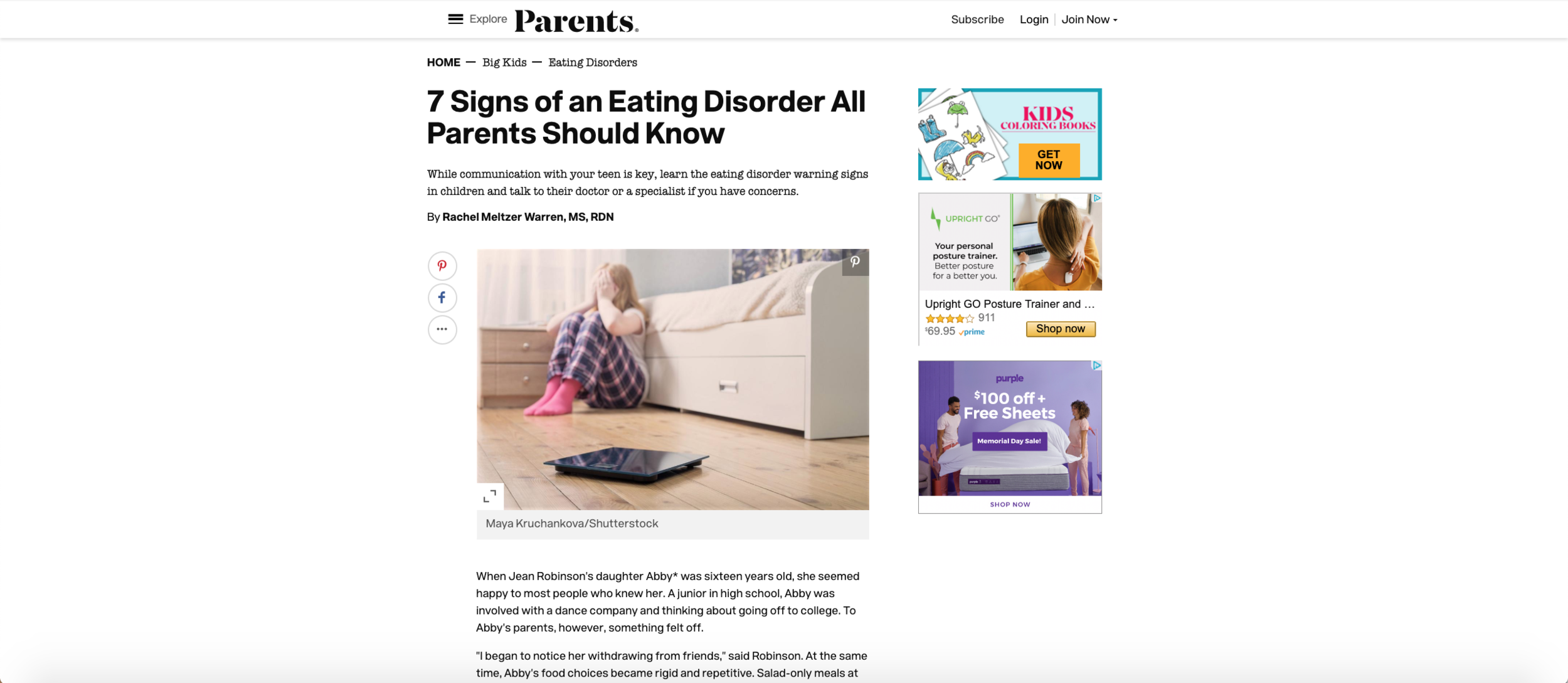 7 Signs of an Eating Disorder All Parents Should Know