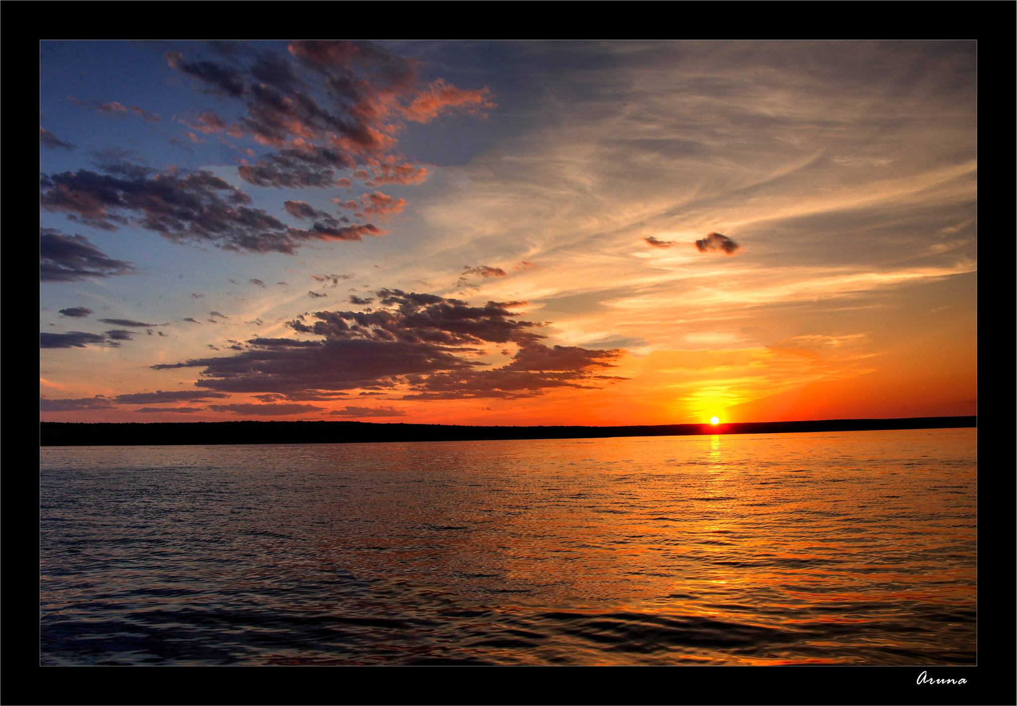 Sunset over Munising bay
