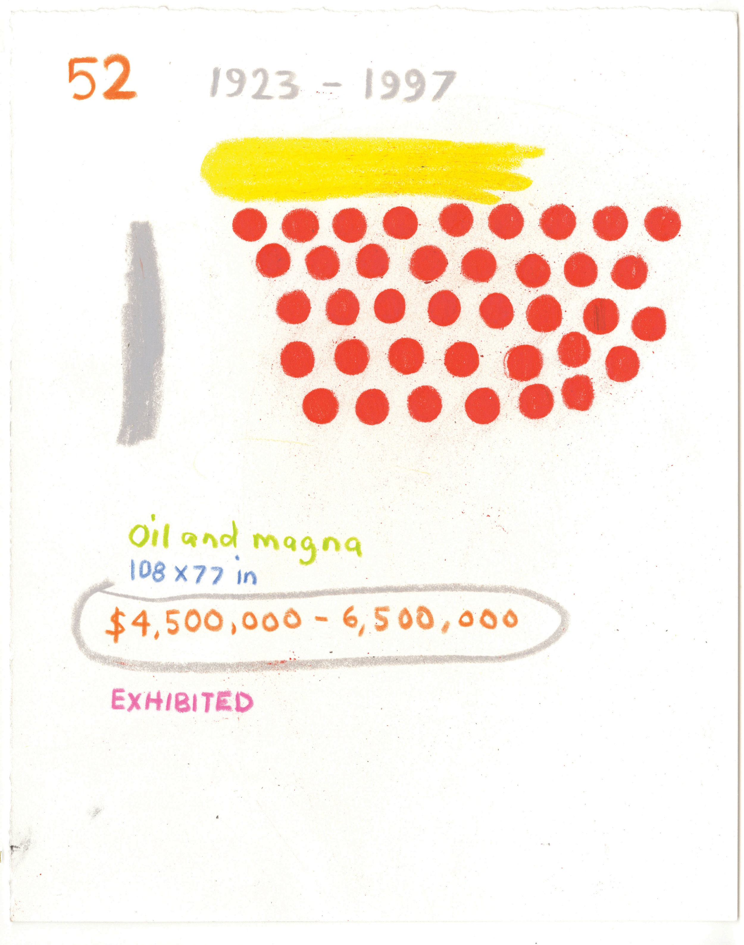 """Various Art Market Catalogue Sketches  mixed media on paper various sizes, roughly 10 x 8"""" 2015"""
