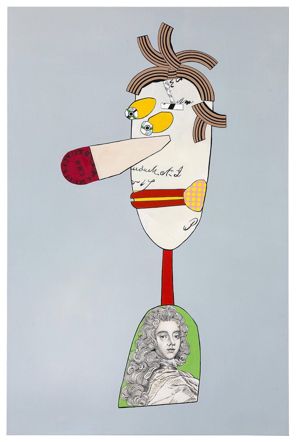 "Colonial Man  acrylic on canvas 70 x 46"" 2014"
