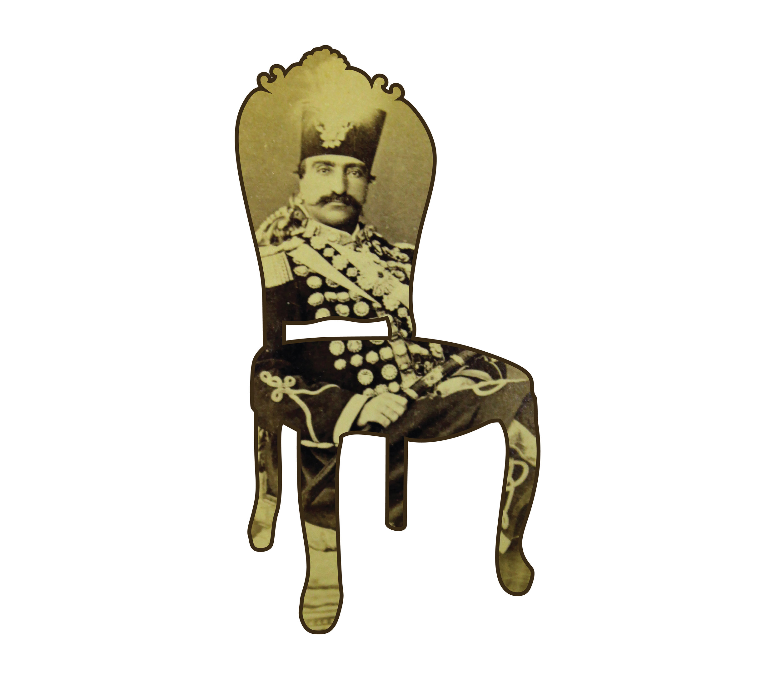 """Chair I   each archival print ed. 12  image 3 1/2 x 1 3/4"""" paper 15 1/2 x 17""""  2016"""