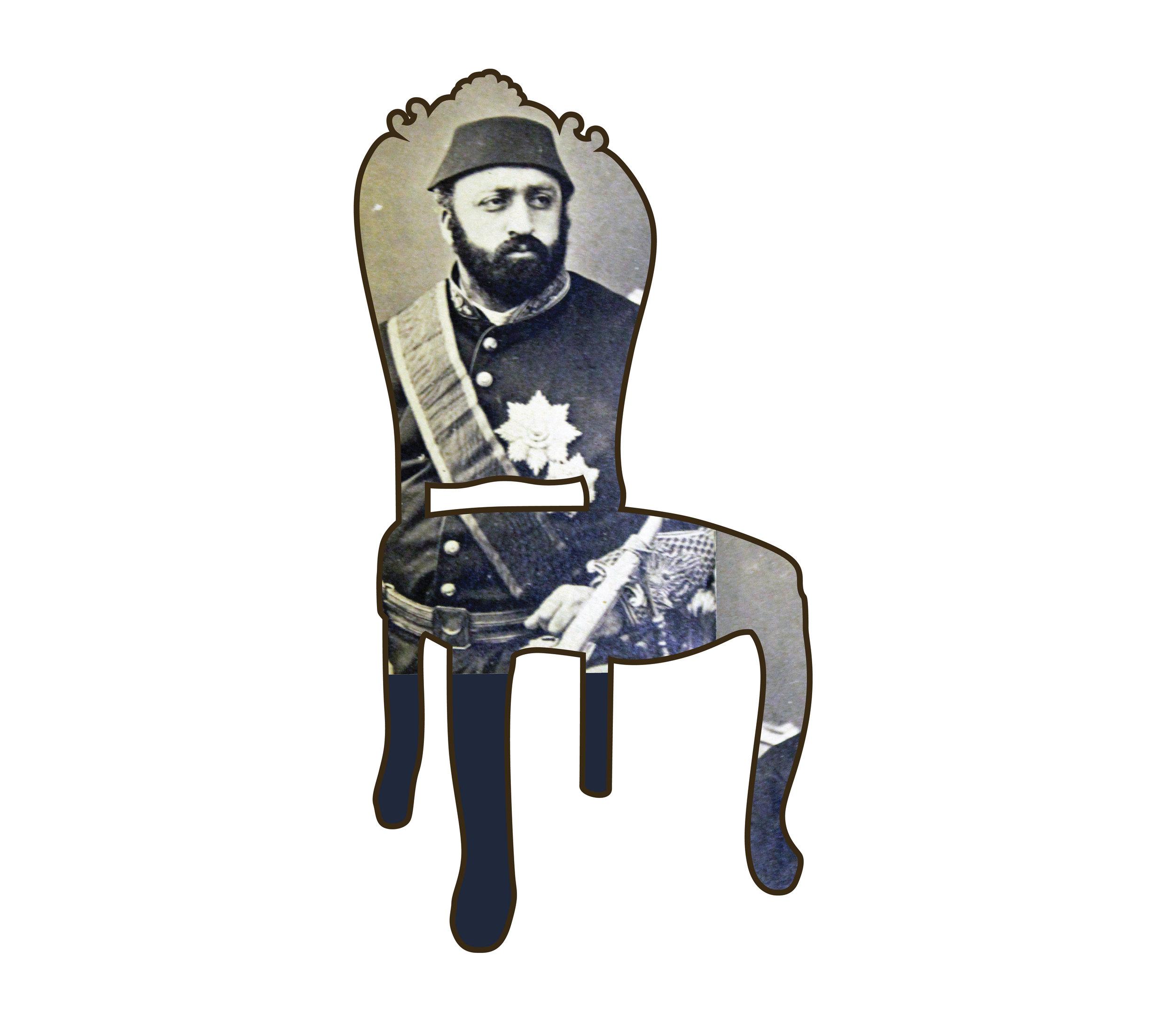 "Chair II   each archival print ed. 12  image 3 1/2 x 1 3/4"" paper 15 1/2 x 17""  2016"