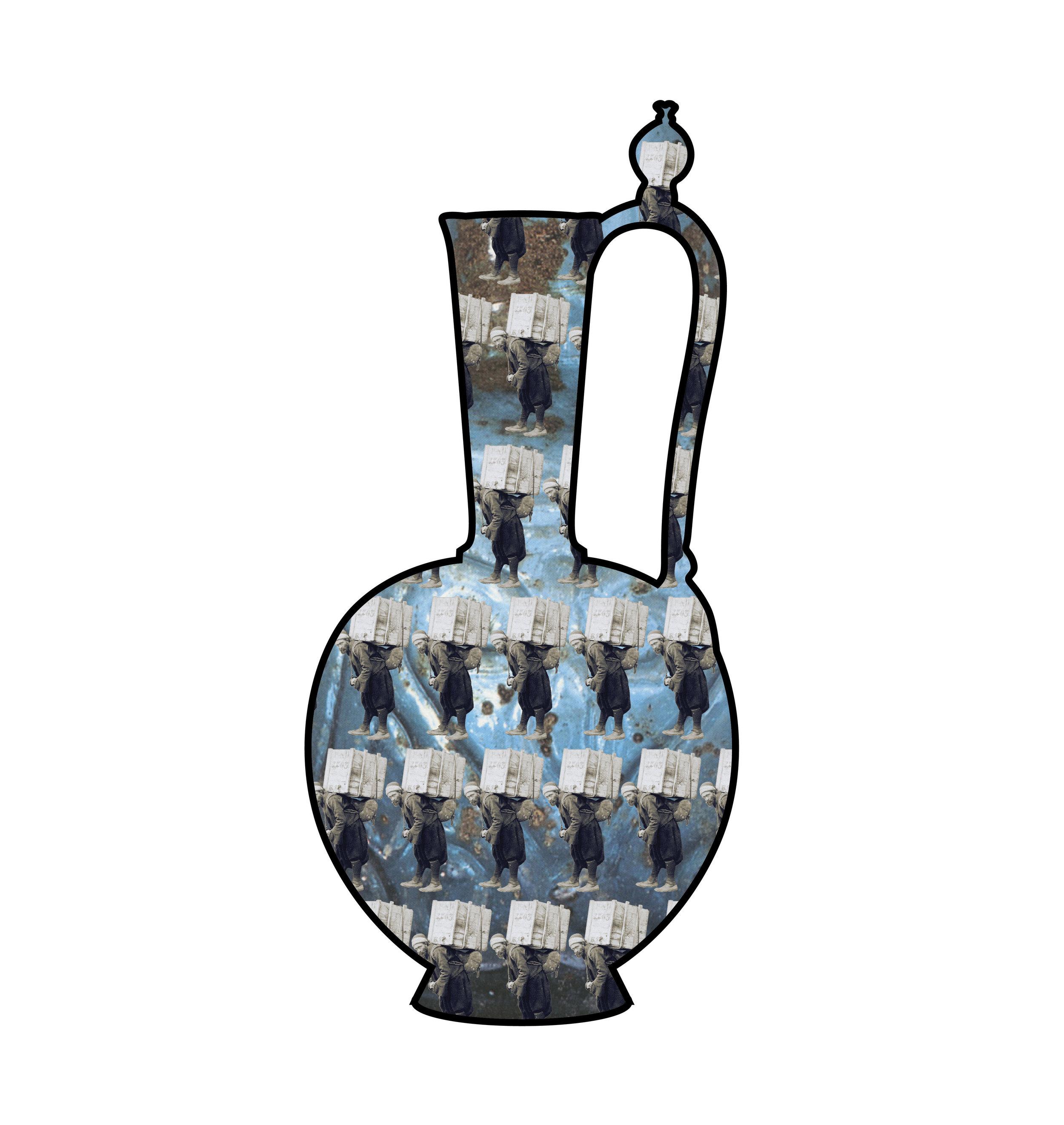 "Ceramic Jar II   each archival print ed. 12  image 4 1/2 x 3 1/4"" paper 15 1/2 x 17""  2016"