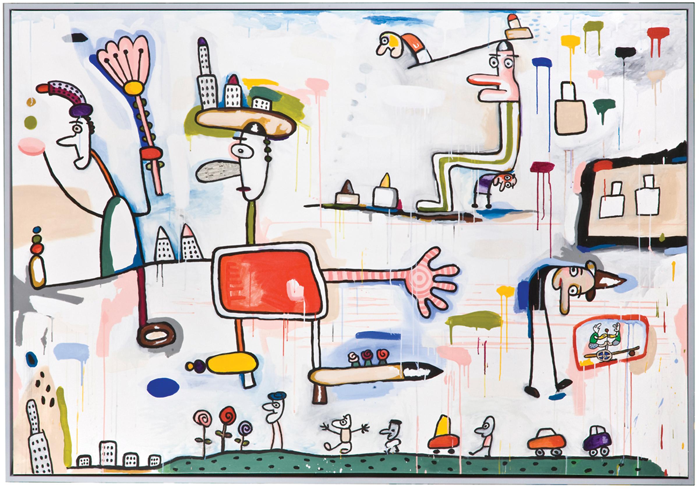 """Air Mail   acrylic on canvas  68 x 90""""  2008"""