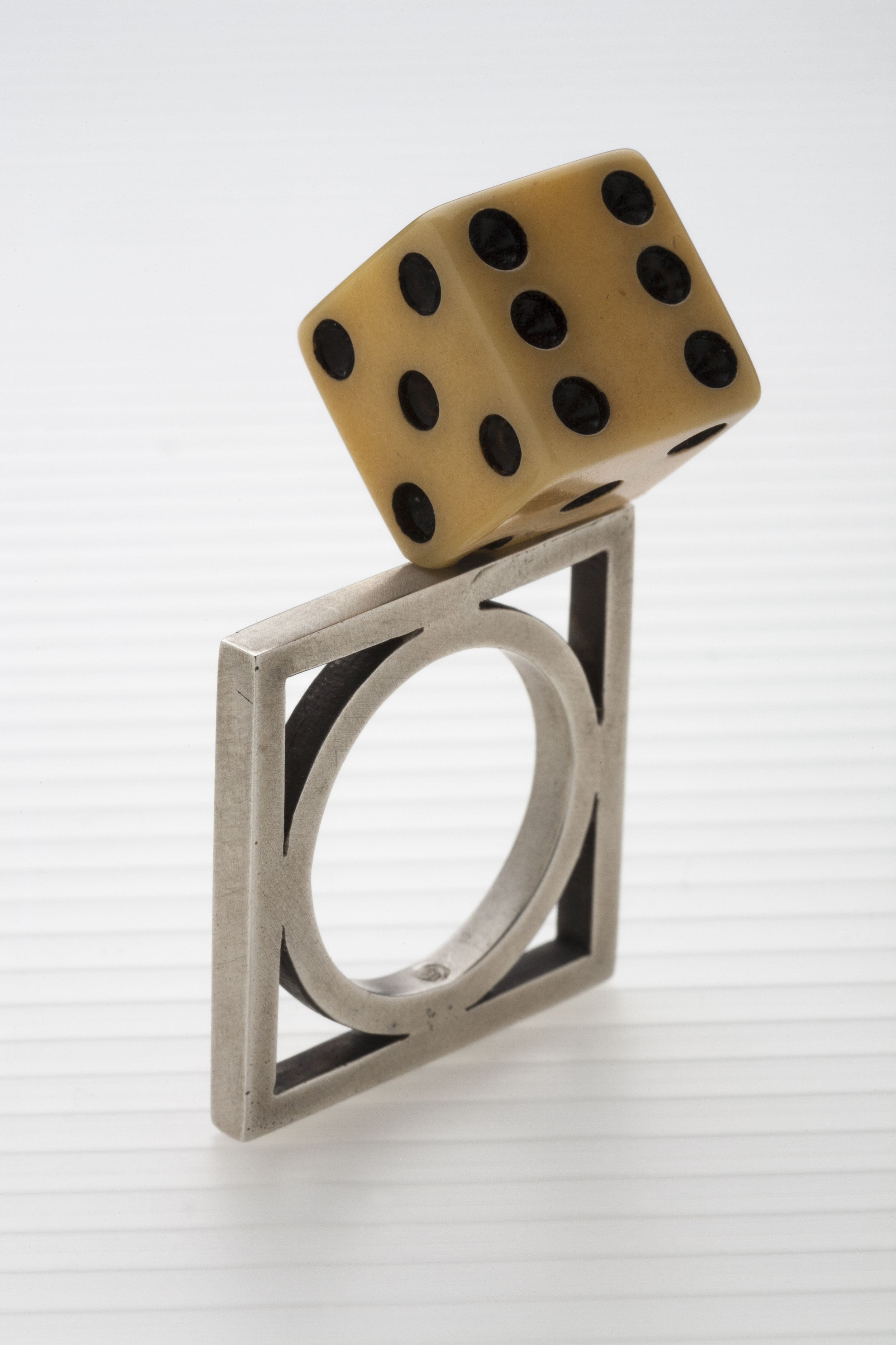 """sterling silver, vintage dice  1.92"""" x 1.1"""" x .8"""""""