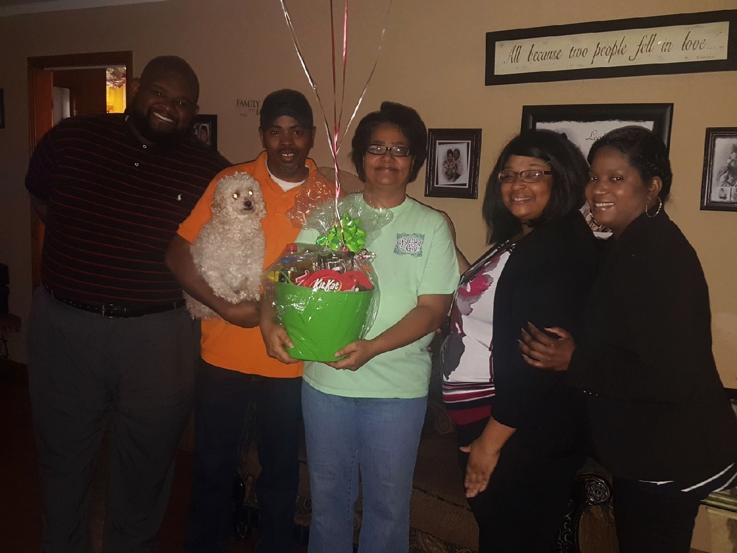 February Prize Patrol Winners with Meritan Foster Care Staff!