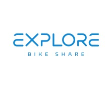 """Explore Bike Share will be offering free use of their bicycles at the Moonlight Classic! Be sure to mark """"YES"""" on the Contact Registration page if you will need to use an Explore Bike Share bicycle!"""