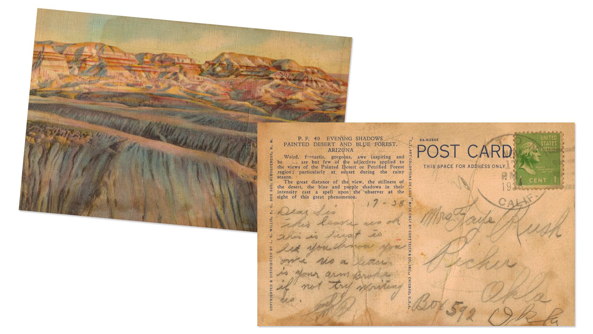 Painted Desert Postcard