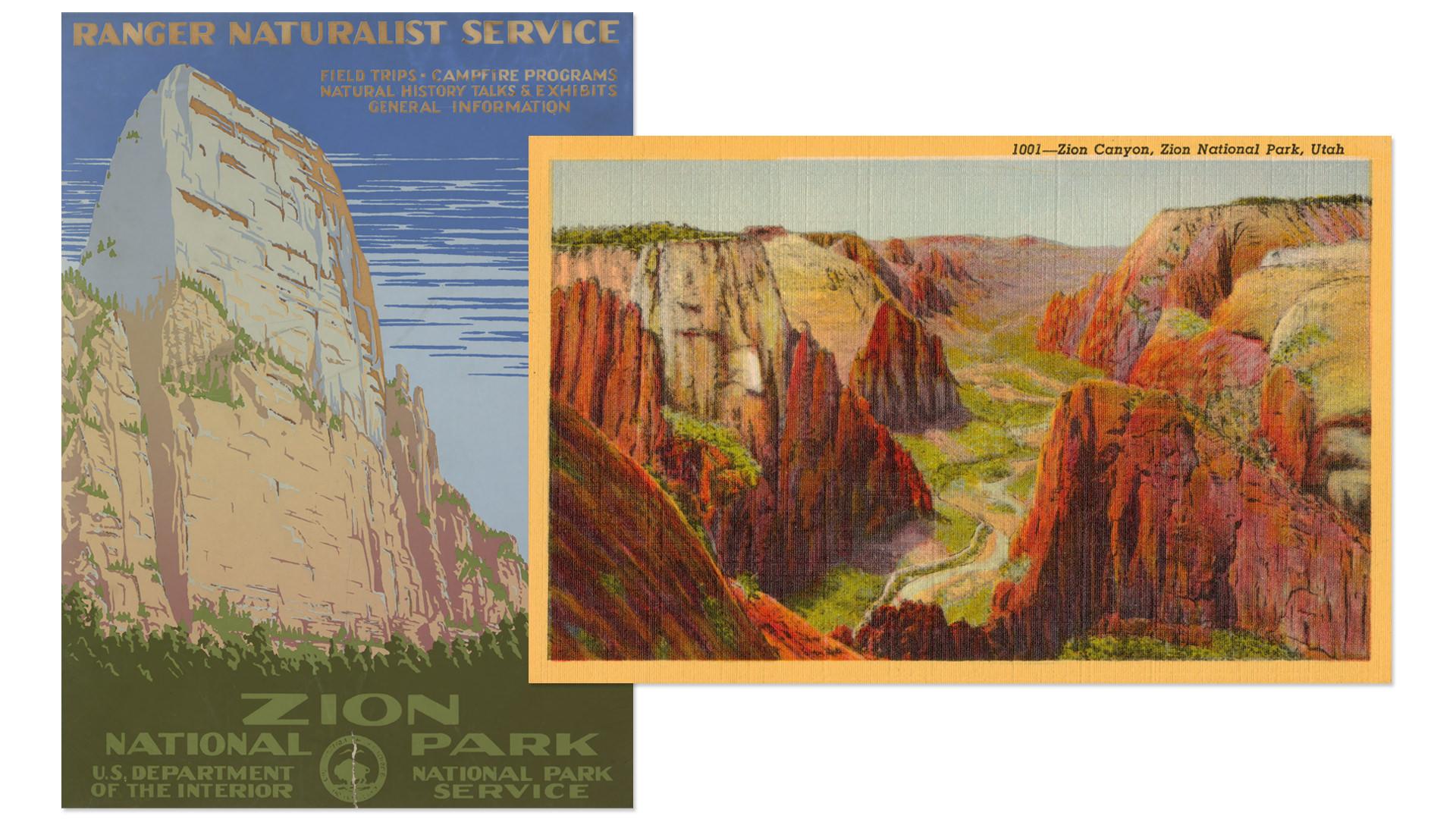 Zion National Park WPA Postcard