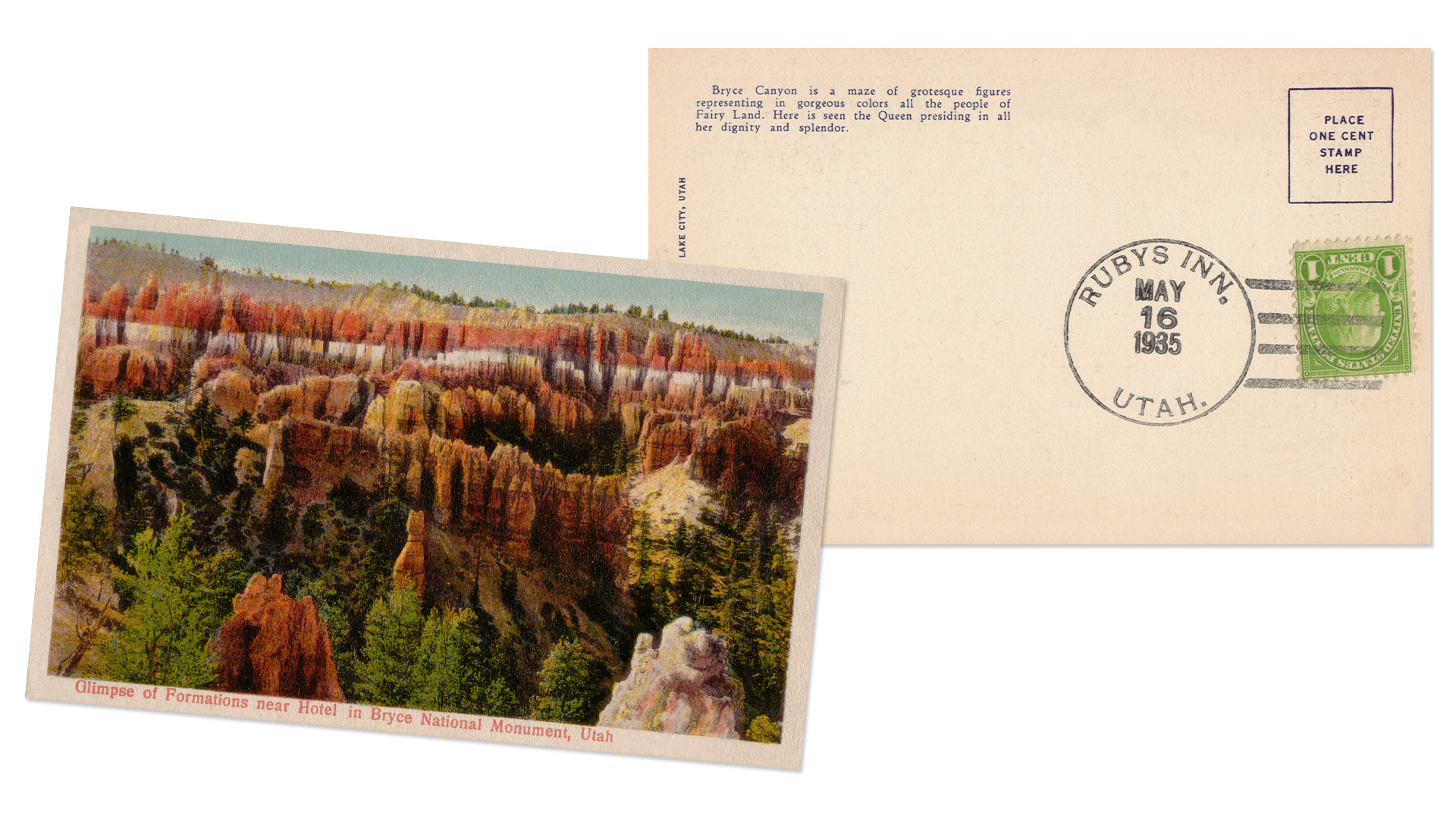 Bryce Canyon National Park Vintage Postcard