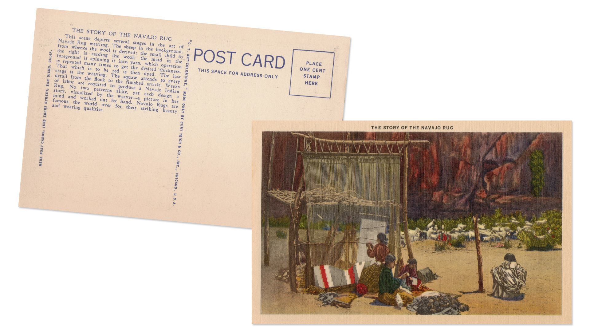 Canyon de Chelly Vintage Postcards