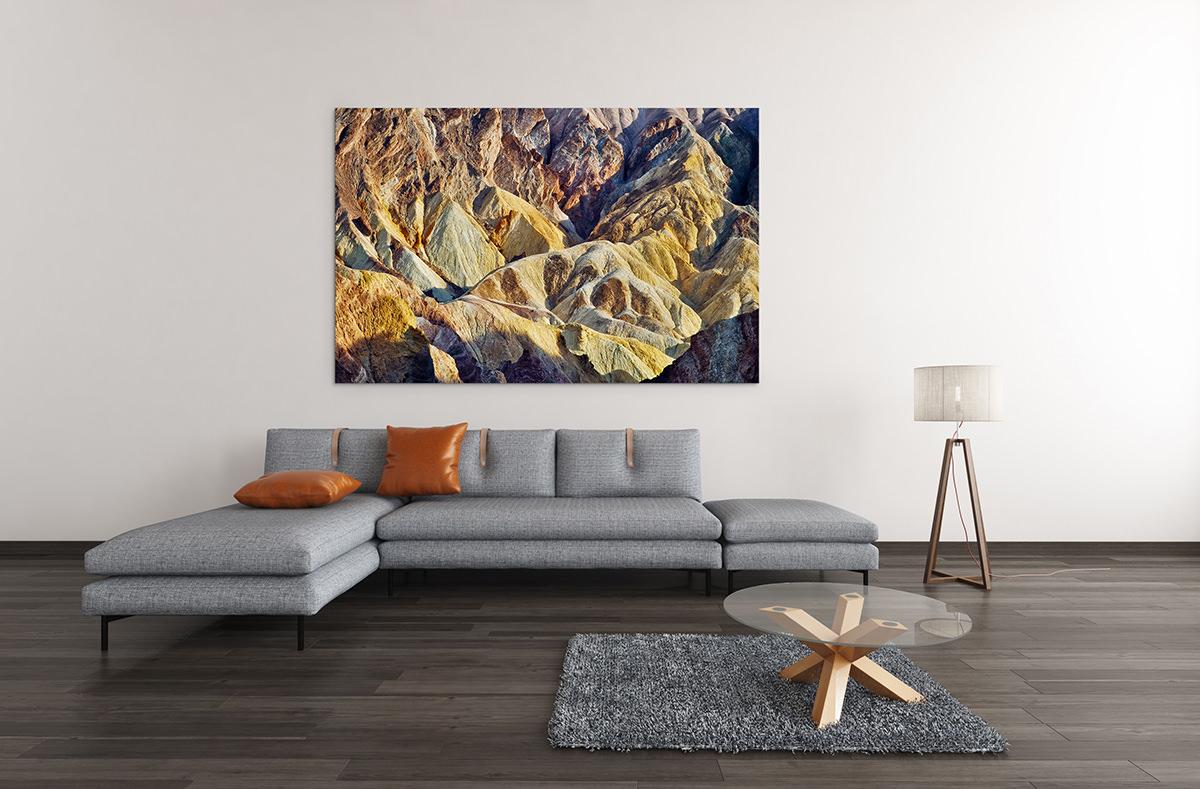 Death Valley Golden Canyon Fine Art Print