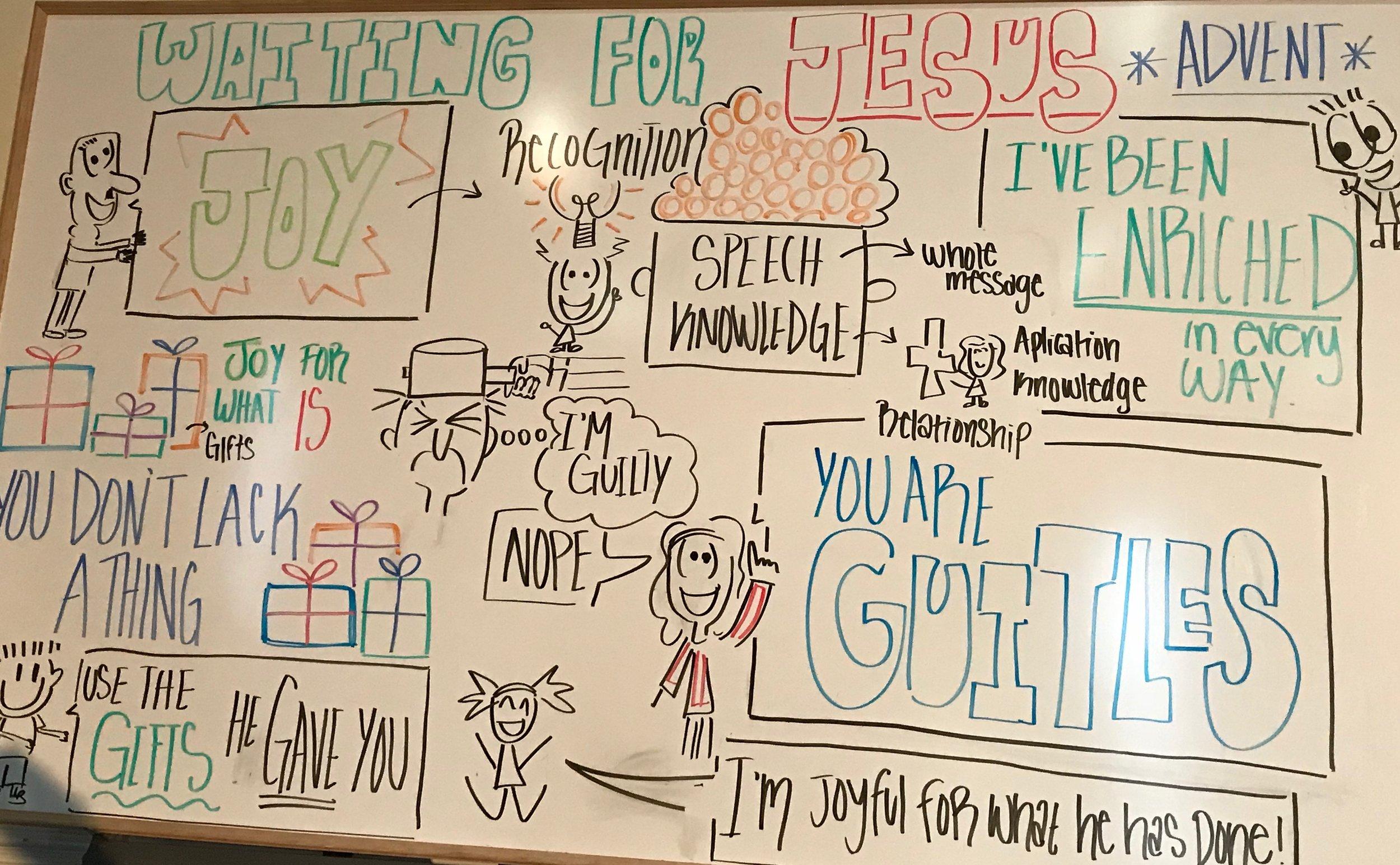 Storyboard by Manuela Cox from 12/16/18 - JOY
